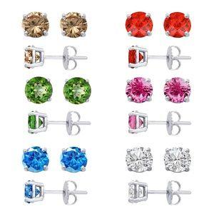Jewelry - New 925 Sterling Silver Sparkling Stud Earrings